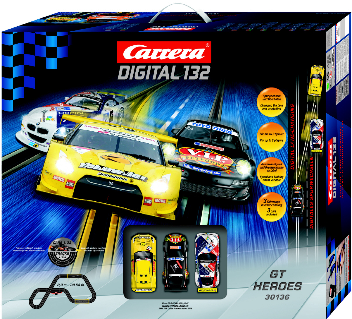 Carrera Digital 132 Gt Heroes 30136 Autorennbahn Neu
